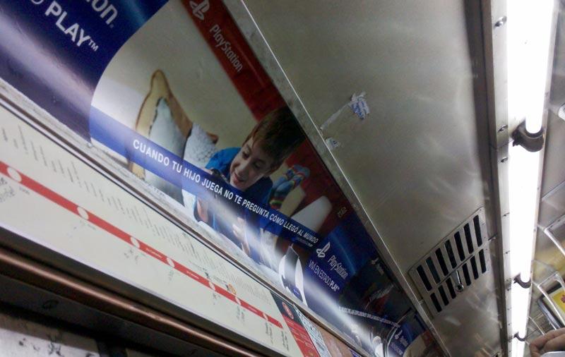 Publicidad Play Station en Subtes - Buenos Aires, septiembre 2013